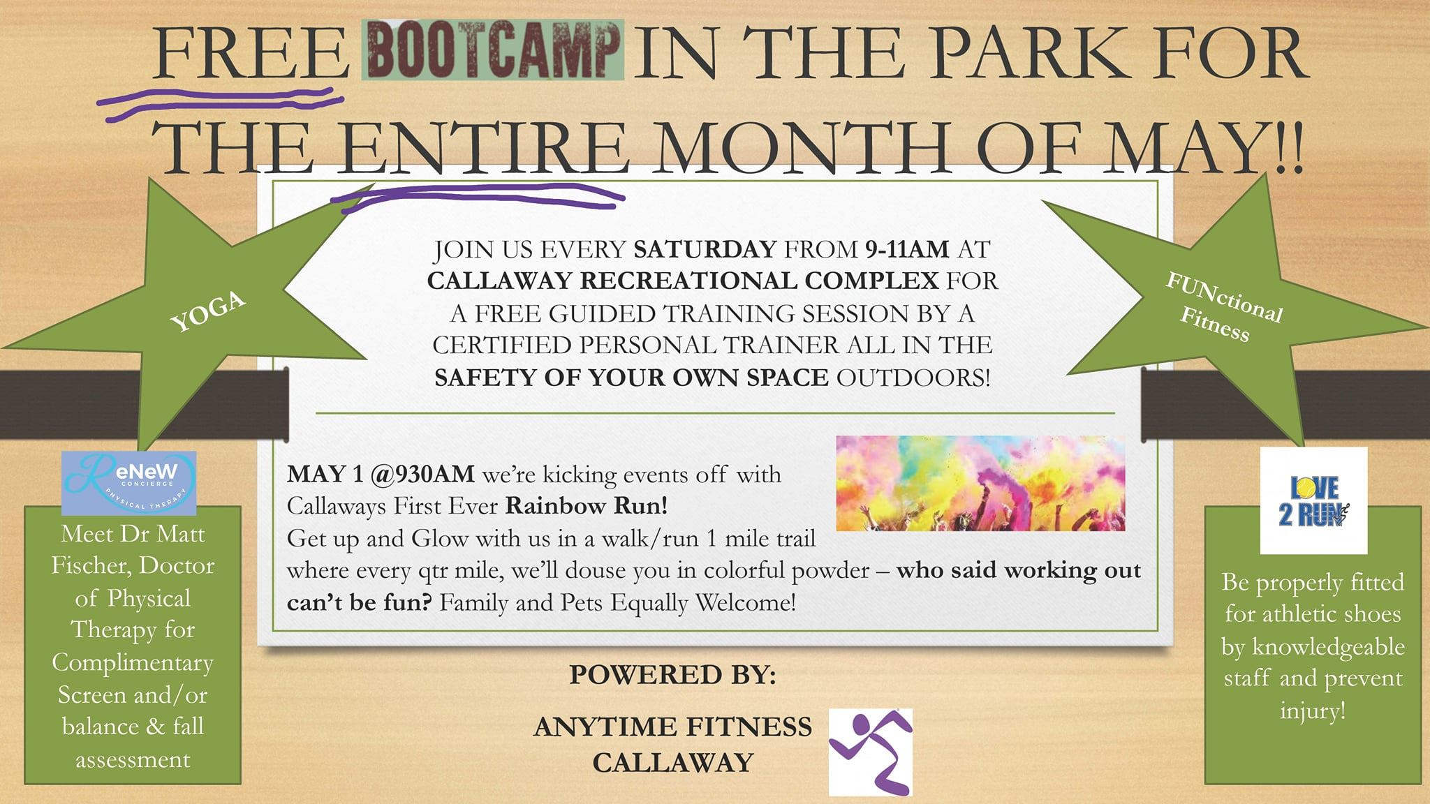 Free Bootcamp in the Park 4-21-21