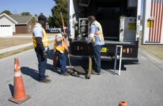 Image of crew working on storm drain